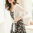 披肩 配吊帶裙子的超仙百搭雪紡小披肩外套女夏季防曬薄款外搭短款開衫-Ballet朵朵