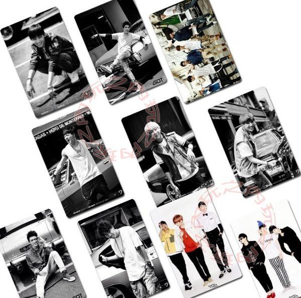 GOT7 迷你二輯《A》水晶卡貼貼紙 悠遊卡貼 照片貼紙(共10張)E589-C【玩之內】 段宜恩 林在範