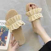 小清新涼拖鞋女外穿夏季新款韓版時尚百搭仙女風平底沙灘鞋【愛物及屋】