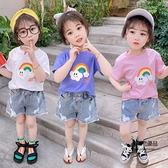 女童夏季短袖T恤純棉兒童打底衫女寶寶韓版寬鬆薄款【聚物優品】