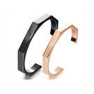 【5折超值價】 【316L西德鈦鋼】新款經典簡約造型開口鈦鋼情侶手環