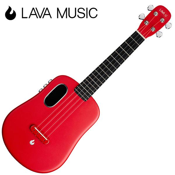 LAVA U 拿火烏克麗麗-23吋/L2 mini /Free Boost/碳纖維材質/插電加震款/紅色
