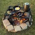 便攜式戶外燒烤架BBQ野營折疊燒烤爐家用簡便燒烤爐架子【七月特惠】