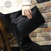 手拿包荔枝紋新品男士手包軟皮大容量信封包男手拿包休閒手抓包夾包潮【免運】