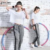 跑步運動套裝女健身服女三件套網罩衫寬鬆健身房瑜伽服 俏腳丫