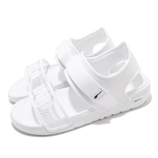 Puma 涼鞋 Softride Sandal Wns 白 半透明綁帶 涼拖鞋 女鞋【ACS】 38067802