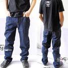【5150】牛仔時尚˙丹寧原色深藍直統牛仔褲(排釦款)-30碼