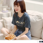 《AB10748》台灣製造.高含棉手繪狗狗印花短袖T恤/上衣 OrangeBear