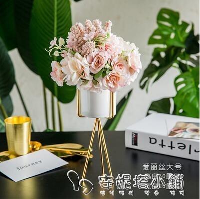 ins北歐客廳茶幾假花藝餐桌仿真干花束擺件擺設裝飾家居創意塑料 安妮塔小铺