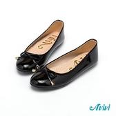 【Avivi】亮麗百搭蝴蝶結娃娃豆豆鞋-黑