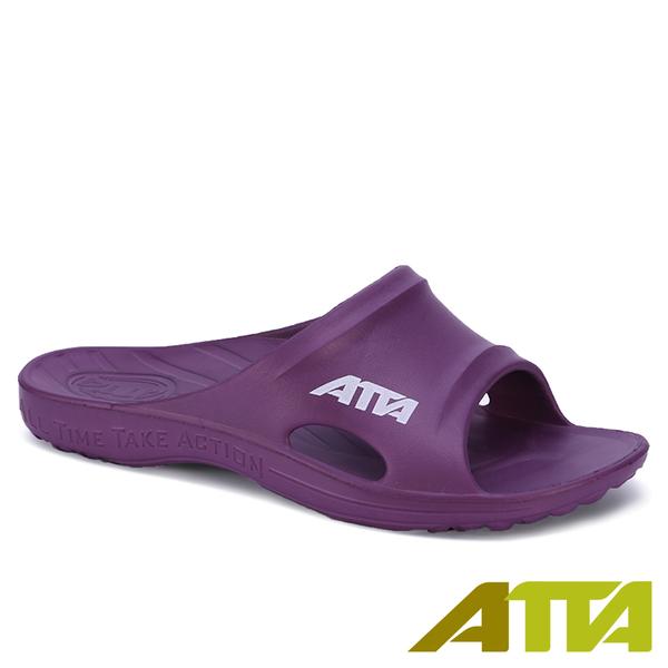 【333家居鞋館】好評回購 ATTA 足底均壓 足弓簡約休閒拖鞋-紫色