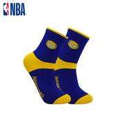 【輸入YAHOO2019享8折】NBA 勇士隊 MIT 運動配件 中筒襪 平版襪 束腳底緹花中筒襪