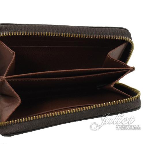 茱麗葉精品 二手精品【8.5成新】Louis Vuitton M60067 經典花紋信用卡拉鍊零錢包