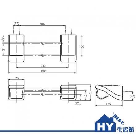 HCG 和成 BA2724 雙桿毛巾架 -《HY生活館》水電材料專賣店
