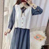連衣裙 女秋裝時尚套裝裙子兩件套韓版學生氣質長裙 交換禮物