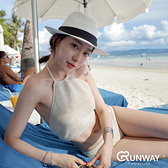 【R】韓歐美 純手工針織 女神 復古 綁帶 簡約性感 比基尼 泳衣
