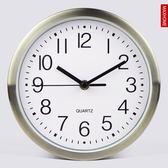 MAX HOME8英寸靜音臥室小掛鐘時尚簡約創意廚房時鐘金屬圓形鐘錶igo CY潮流站