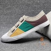 帆布鞋子休閒老北京布鞋壹腳蹬百搭男板鞋【橘社小鎮】