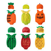 無袖包屁衣 造型服 水果造型 男寶寶 女寶寶 爬服 哈衣 附帽子 Augelute Baby 51015