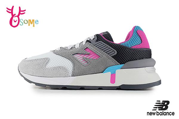 New Balance 997H 中大童 韓風時尚運動鞋 慢跑鞋 O8590#灰色◆OSOME奧森鞋業