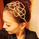 飾品 髮束 Gina&Chia 法式優雅鏤空編織髮帶