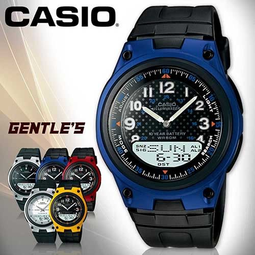 CASIO 手錶專賣店   AW-80-2B 十年電力 電話記憶雙顯多功能男錶 AW-80
