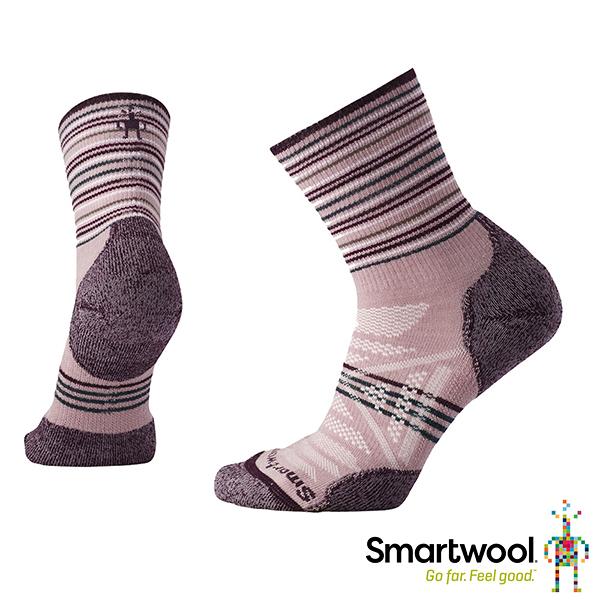 [SmartWool] (女) PhD 戶外輕量避震印花中筒襪 木玫粉 (SW000766580)