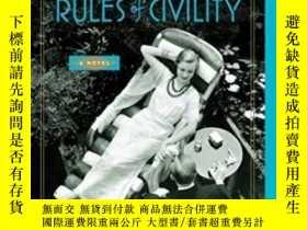 二手書博民逛書店Rules罕見Of Civility-禮節Y436638 Amor Towles Penguin Books,