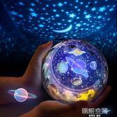 創意禮品星球宇宙星空燈智能調光LED旋轉投影燈USB浪漫安睡小夜燈 韓語空間