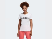 Adidas ESSENTIALS LINEAR T-SHIRT 女款白色短袖上衣-NO.DU0629