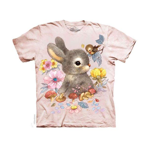 【摩達客】(預購)(男童/女童裝)美國進口The Mountain 小兔寶寶 純棉環保短袖T恤(10416045085a)