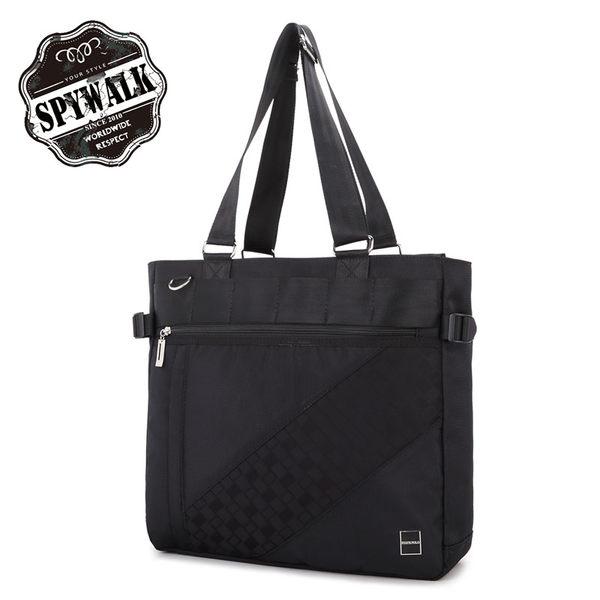 背包購物袋 STATE POLO型男前格紋大容量手提後背三用包NO2899-1