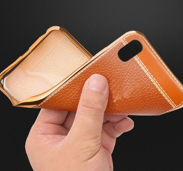 【SZ62】s7 edge手機殼 電鍍邊質感皮紋 a8 samsung s7 edge S7 C7 s6 S6 edge plus手機殼 軟殼