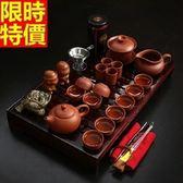 茶具組含茶壺+茶杯+茶海+茶盤-紅泥泡茶品茗送禮功夫茶具套組2款68ad4[時尚巴黎]
