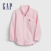 Gap男幼棉質舒適角扣翻領襯衫911790-純粉色