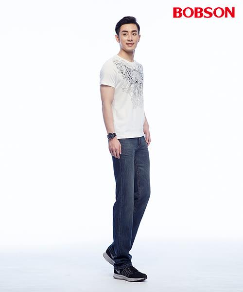 BOBSON 男款低腰繡花直筒褲(1812-52)