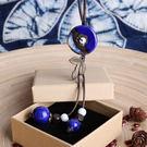 陶瓷圓形項鍊-夢想家-森女復古陶瓷圓形民族風百搭項鍊/2色-0717