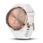 【岱宇國際Dyaco】Garmin vivomove HR 指針智慧手錶 運動款-簡約玫瑰金