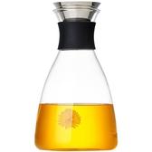 玻璃涼水壺家用耐高溫水瓶套裝果汁冷水壺