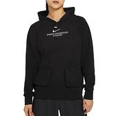 Nike AS W NSW Swsh Hoodie FT 女 黑 立體小LOGO 運動 休閒 長袖 CZ8897-010
