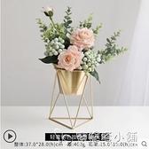 北歐逼真仿真花擺件絹花假花客廳花瓶裝飾品玫瑰餐桌花藝干花擺設 母親節禮物