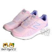 New Balance 粉/紫色 魔鬼氈 女童運動鞋 中童鞋 (KVRUSPEP) NO.R2338
