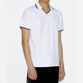 A/-X阿瑪尼V短袖修身Polo(白色)