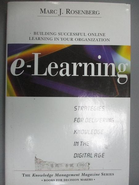 【書寶二手書T6/財經企管_E3R】E-Learning: Strategies for Delivering Know
