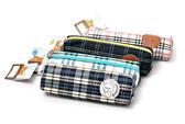 BabyPark 日本San-x 拉拉熊格紋系列 筆袋 收納包 Rilakkuma