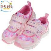 《布布童鞋》Moonstar日本carrot速乾粉色兒童機能運動鞋(15~21公分) [ I9A531G ]