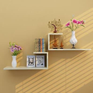 牆上置物架壁挂創意牆壁隔板客廳電視背景牆裝飾擱板臥室壁櫃格子6(首圖款)