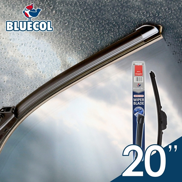 BLUECOL藍雀Aero-Flexible高彈性氣動軟骨雨刷20吋(508mm)