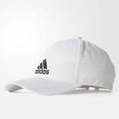 adidas 帽子 6-Panel 六分割帽 老帽 白 黑 男女款 可調整 白色【PUMP306】 S98150