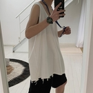背心男潮ins港風運動男士無袖T恤外穿夏季嘻哈韓版潮流內搭打底衫